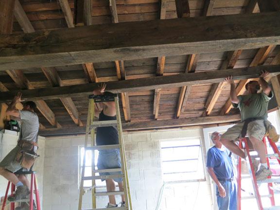 painting-studio-1st-beam-raised