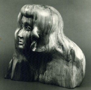 Sculpture in Kiabacca wood from St Croix