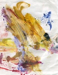 This is a piece of my pallet that caught my eye while painting something else.