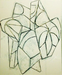 The drawing for the next wall sculpture