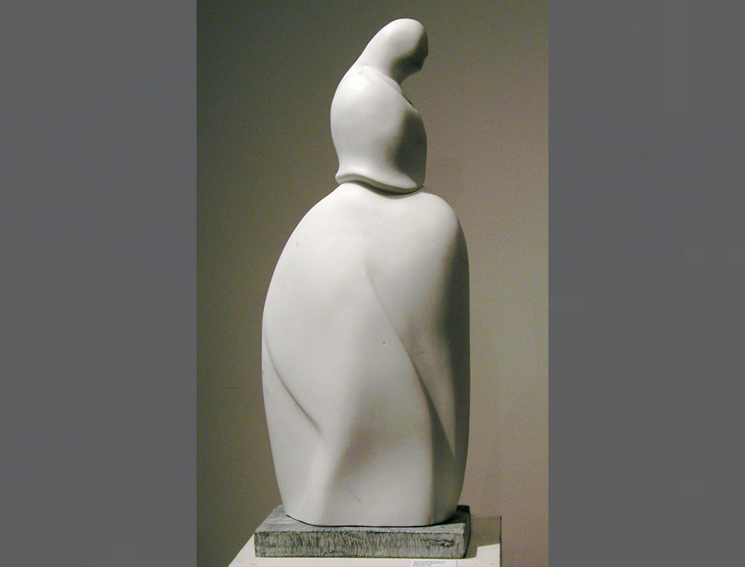 Standing Figure: Carrara Marble Italy 25x9x6